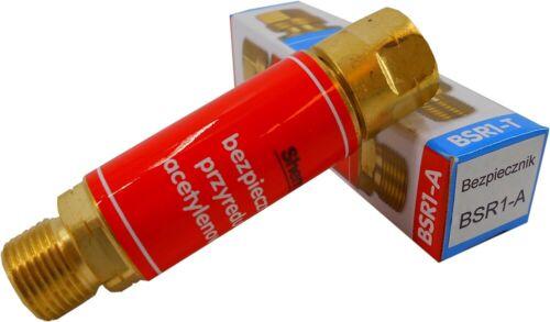 Flashback arrestor Oxygen Acetylene dry regulator burner hose fuse Welding /& Gas