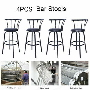 Fantastic Details About Set Of 4 Swivel Bar Stools Steel Frame Counter Height Modern Barstool Pub Chairs Caraccident5 Cool Chair Designs And Ideas Caraccident5Info