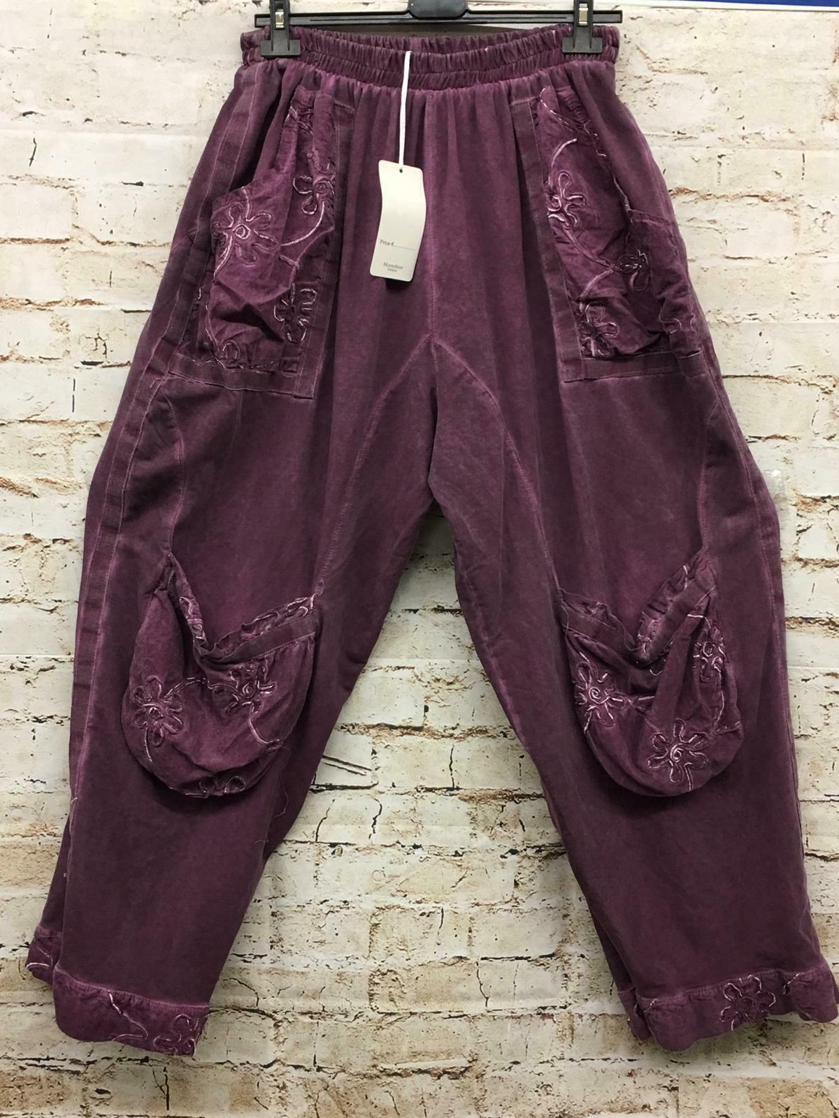 6c4f588828c1 Moonshine Fashion Hose Lagenlook 44 46 48 48 50 Cord Übergrösse Neu ...