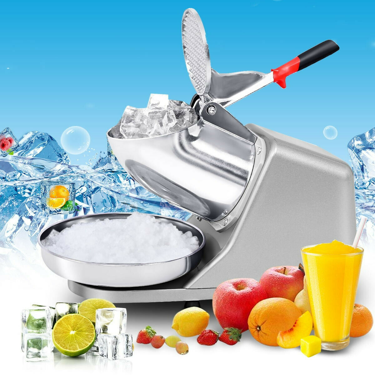 Electric Ice Shaver Machine Snow Cone Maker Ice Shaved Crush
