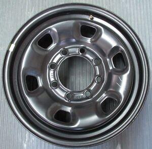 Dodge Truck 17 8 Lug Black Spare Steel Wheel Oem Ebay