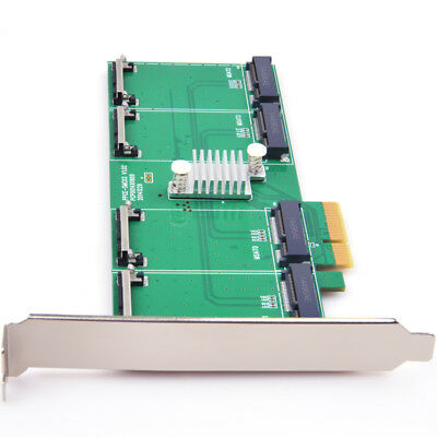 PCIe to 4 ports mSATA SSD Expansion Card support RAID 0,1 Adapter Card
