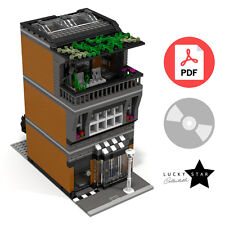 Lego Modular PDF Instructions - Clothing Store & Apartment House - Custom MOC