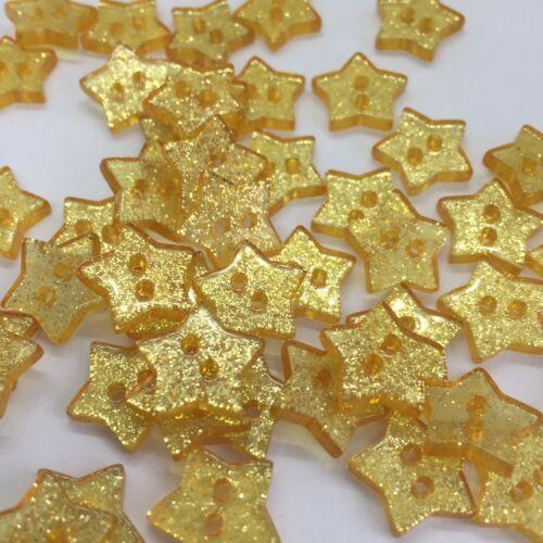 resin flatback Xmas Craft embellish x50 GREEN Christmas glitter STAR buttons