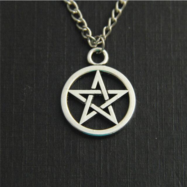 Simple Vintage Silver Star Pendant Torque Choker Jewelry Chain Collar Necklac DD
