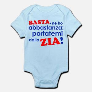 Body-pagliaccetto-neonato-azzurro-bimbo-bebe-Portatemi-dalla-zia
