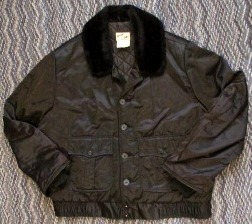 Men's Black Satin Style Jacket Tuffy Jac Size 46L