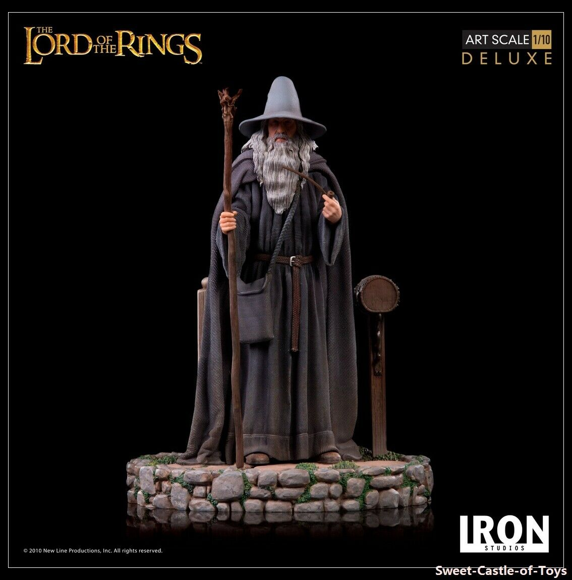 1/10 Iron Studios Lord of the Rings - Hobbits Gandalf Deluxe BDS Art Scale  on eBay thumbnail