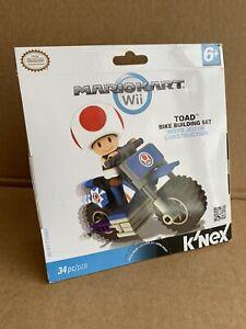 KNEX-Nintendo-Mario-Kart-Wii-TOAD-Bike-Building-Set-Sealed-34pc
