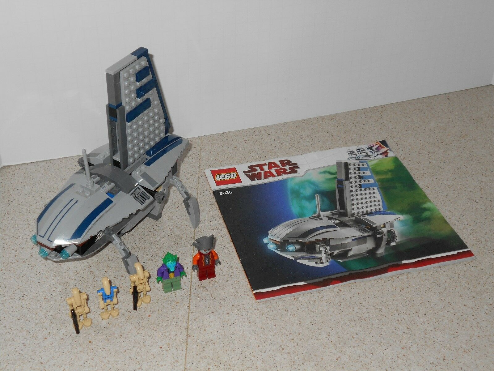 USED LEGO STAR WARS SEPARATIST SHUTTLE (8036) (8036) (8036) - 100% COMPLETE WITH MANUAL c5d2de
