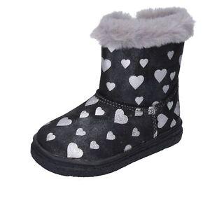 scarpe-bambina-BALDUCCI-stivaletti-nero-pelle-sintetica-argento-pelliccia-AVERIS