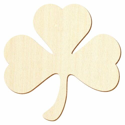 Madera irlandesa-trébol decorativas bricolaje 3-50cm
