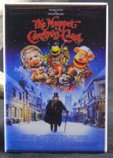 "The Muppet Christmas Carol Movie Poster - 2"" X 3"" Fridge / Locker Magnet. Kermit"
