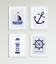 Aeronautical Bedroom Prints//Pictures PERSONALISED with name Bedroom Nursery Blue
