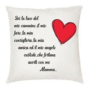 Cuscino 40 X 40 Scritta Poesia Mamma Angelo Custode Idea Regalo