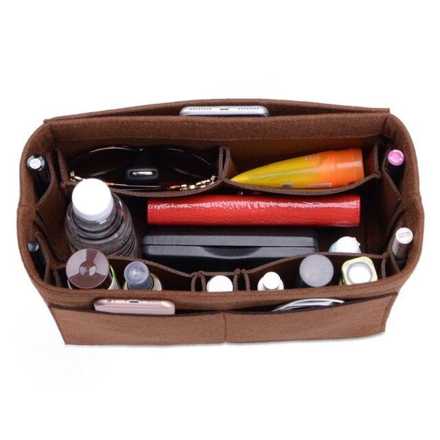 903b001aeb14 Ceewa Felt Purse Organizer Multi Pocket Bag in Fit Tote   Handbag ...