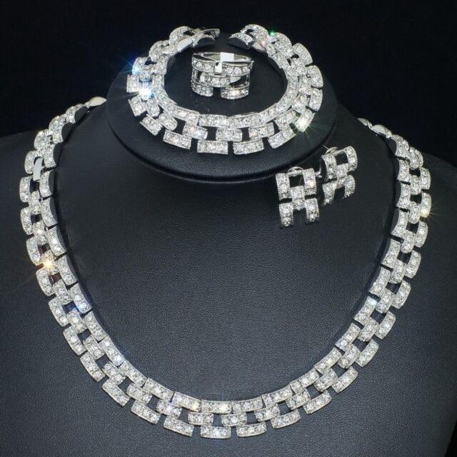 V41 VF Austria Crystal Alloy Earrings Bracelet Necklace