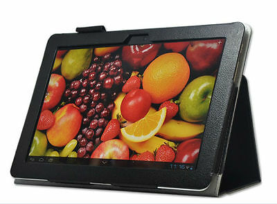 """Flip Leather Case Cover w/ Hand Strap For 10.1"""" HUAWEI MediaPad 10 Link Tablet"""