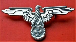 Eagle with Maltese Cross Biker Silvered Badge motorcycle  vintage  style