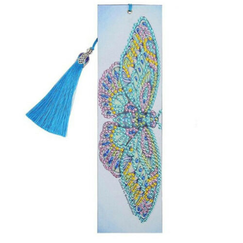 1PC 5D DIY Special Shaped Diamond Painting Bookmark Tassels Embroidery Craft