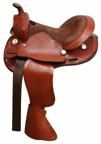 Round Skirted Pony Saddle with Tapederos 10 12 or 13 Seat NEW
