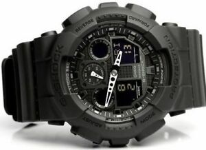 f7082e071ce New Casio G-SHOCK BLACK OPS Analog XLARGE BLACK GA100-1A1 Watch NWT ...