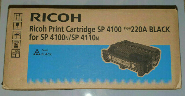Genuine New Ricoh  SP4100 Type 220A Black Print Toner Cartridge