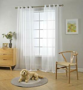 Miuco Semi Sheer Curtains Poly Linen