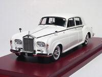 Rolls-royce Silver Cloud Iii, White 1963 Cars, Truescale Tsm124370 Resin 1/43