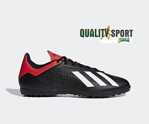 AgréAble Adidas X 18.4 Tf Nero Rosso Scarpe Uomo Calcetto Soccer Shoes Bb9412 2019