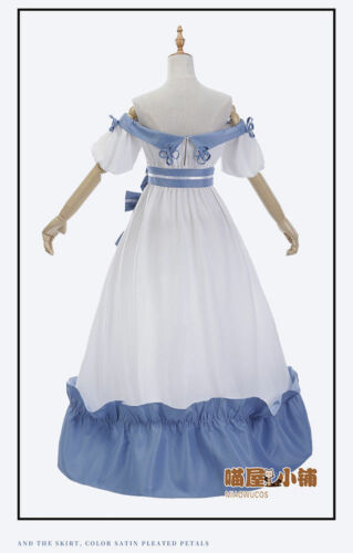 Final Fantasy XIV FF14 Spring Dress Miqo/'te Cosplay Costume Outfit