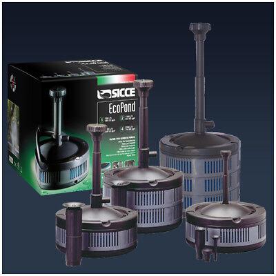 Sicce ecopond 2 pompa per laghetto e fontana con filtro e for Fontana per laghetto