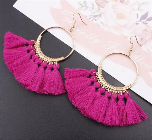 Fashion Boho Dangle Ear Earrings Women Long Tassel Fringe Party Jewelry Gift New