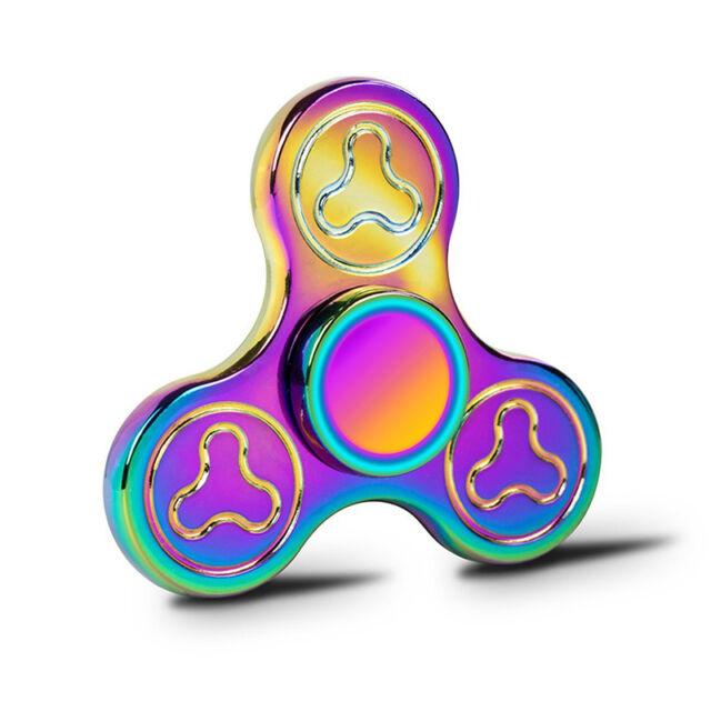 Colorful Fidget Spinner Rainbow Hand Gyro EDC Anti-stress Focus Pocket Toys ADHD