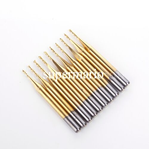 5x 1//8/'/' Titanium N2 Coated Carbide One Single Flute CNC Router Bit 1mm x3mm