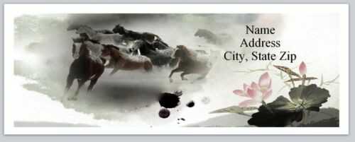 p 180 30 Return Address Labels Western Country Horses Buy 3 get 1 free