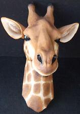 "SCHEREZADE   Hanging Giraffe Head   Statue Figurine  H17"""