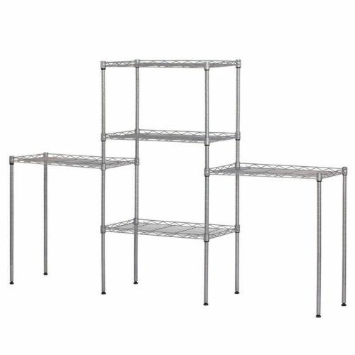 5 Level Adjustable Shelf Heavy Duty Storage Rack Garage Steel Metal Shelf Unit