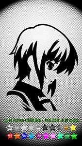 Manga-Girl-Sticker-Aufkleber-JDM-Anime-Japan-Comic-Cartoon-10cm-x-12cm