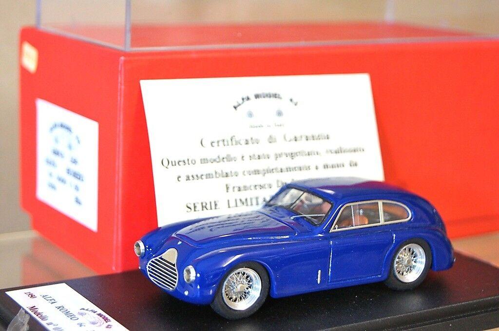 Fds Alfa Modèle 43 1950 Alfa Romeo Nouveau 6C 3000 Coupe 50 Blue Nouveau Romeo Ar 3b9f3e