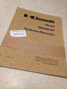 Kawasaki-Teile-Liste-KH100-B7-Teile-Liste-Liste-Ersatzteile-ed-75original