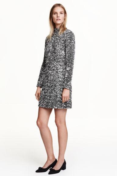 Kleid H&M Paillette silber Party Silvester Ball Gr.36 neu Np.