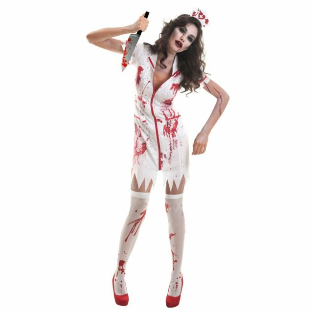 6b0a8ed5f5f74 Amscan Womens Zombie Nurse Ladies Halloween Fancy Dress Costume for ...