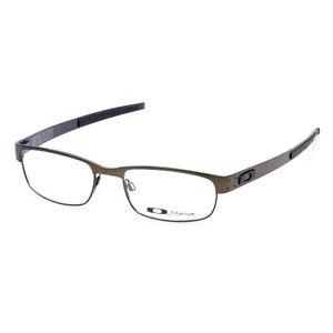 5fc8defc6ce Image is loading Eyeglass-Frames-Oakley-METAL-PLATE-OX5038-0253-Pewter53mm-