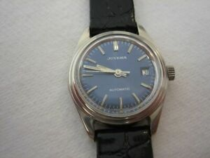 NOS NEW SWISS VINTAGE WITH DATE AUTOMATIC JUVENIA ANALOG WOMEN'S WATCH 1960'S