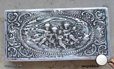 Puderdose 800 Silber antike silberne Makeup Dosen Puderdosen Dose antik