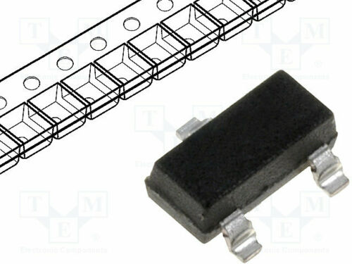 Transistor NPN bipolar 50V 0,15A 0,1W SC70 5 st