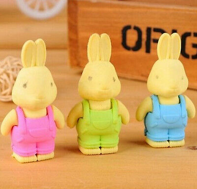 FD934 Funny New Rabbit Pencil Erase Rubber Stationary Kid Gift Toy Rubber 1PC :)