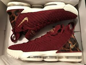 4f8e19d2f9591 Nike Lebron 16 XVI The King Team Red Metallic Gold Leopard AO2588 ...