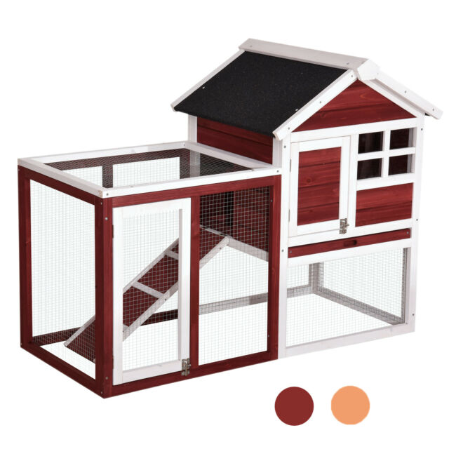House Rabbit Hutch With Connected Run For Sale Online Ebay